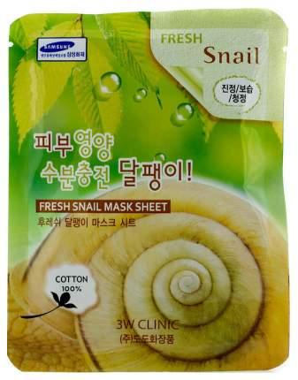 Маска для лица 3W Clinic Fresh Snail Mucus Mask Sheet 23 мл