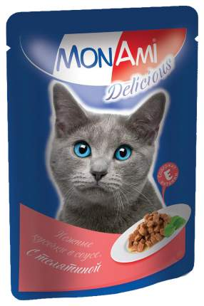 Влажный корм для кошек MonAmi Delicious, телятина, 26шт, 85г