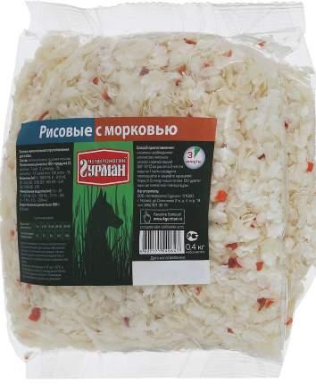 Каша для собак Четвероногий Гурман Рисовая, с морковью, 0,4кг