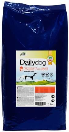 Сухой корм для собак Dailydog Adult Small Breed, для мелких пород, индейка и рис, 12кг