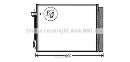 Радиатор кондиционера Ava BWA5377D
