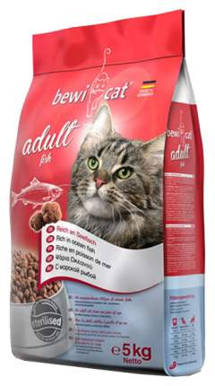 Сухой корм для кошек Bewi Cat, рыба, 5кг