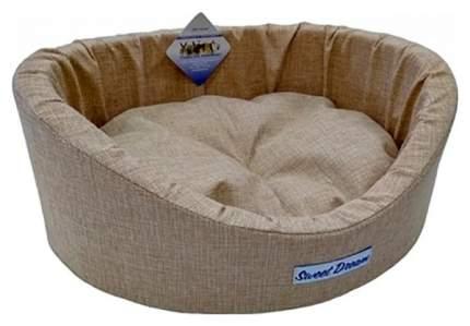 Лежак для животных Бобровый Дворик Сладкий сон Светлый 64 х 49 х 20 см