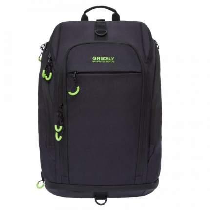 Рюкзак Grizzly RQ-906-1 черный/салатовый 20 л