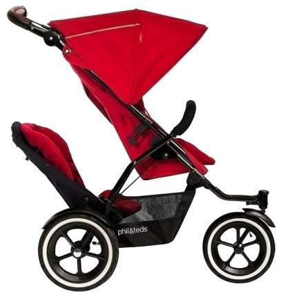 Коляска для погодок Phil and Teds Sport коляска, второе сидение Cherry -красный