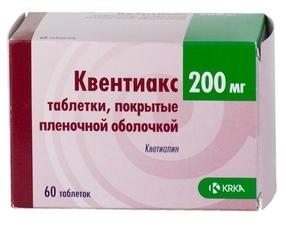 Квентиакс таблетки 200 мг 60 шт.