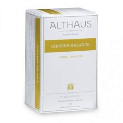 Чай травяной Althaus ginseng balance 20 пакетиков