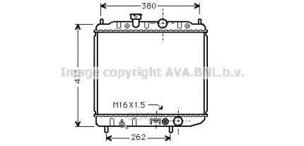 Pадиатор системы охлаждения Mitsubishi Colt 96-97 Ava MTA2036