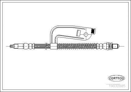 Шланг тормозной системы CORTECO 19032885