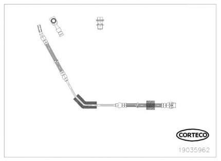 Шланг тормозной системы CORTECO 19035962