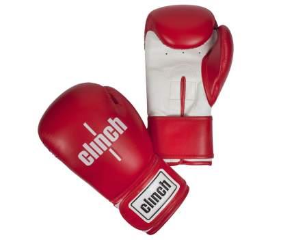 Боксерские перчатки Clinch Fight C133 белые/красные 12 унций