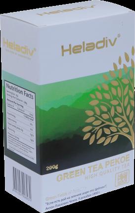 Чай зеленый Heladiv green tea pekoe крупнолистовой 200 г