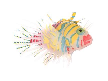 Рыба-лев цветная силиконовая, светящаяся в темноте, большая, 12х8х4см