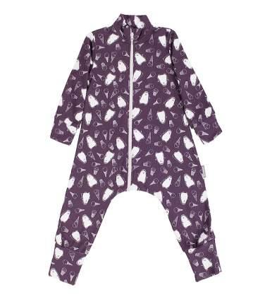 Комбинезон-пижама Bambinizon Пингвины ЛКМ-БК-ПИНГ р.74