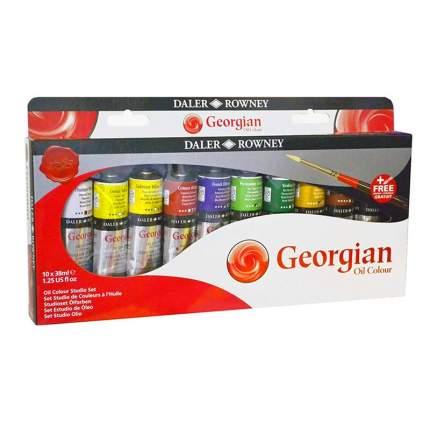 Масляные краски Daler Rowney Studio Georgian 10 цветов