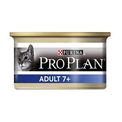 Консервы для кошек PRO PLAN Adult 7+, рыба, 85г