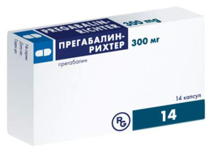 Прегабалин-Рихтер капсулы 300 мг 14 шт.