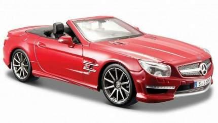 Машинка Maisto красная - Mercedes-Benz SL 63 AMG Cabrio 2012г 1:24, красная