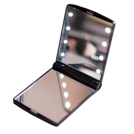 Складное косметическое зеркало GESS uLike Compact для макияжа с подсветкой