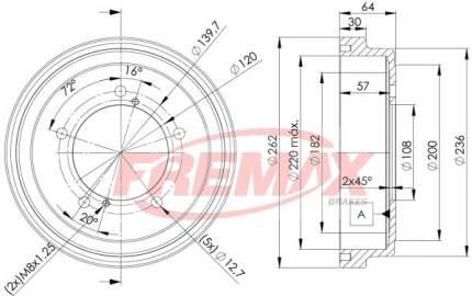 Тормозной барабан FREMAX BD-4804