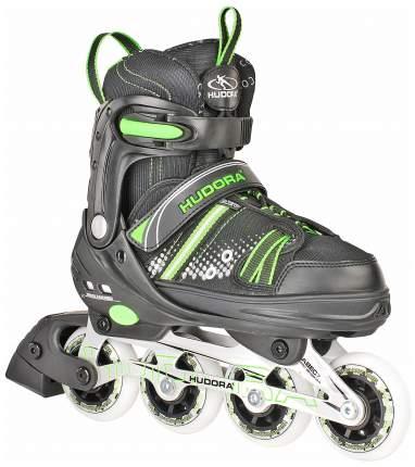 Роликовые коньки раздвижные детские Hudora Inlineskate RX-21 р. 23-36 Зеленые