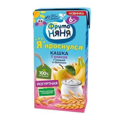 Молочная каша ФрутоНяня 5 злаков йогуртная с грушей и бананом 200г