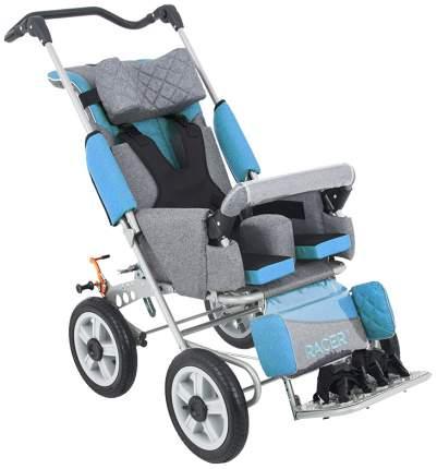 Кресло-коляска Akces-med Рейсер+ размер 2 с поворотными колесами лайм козырёк
