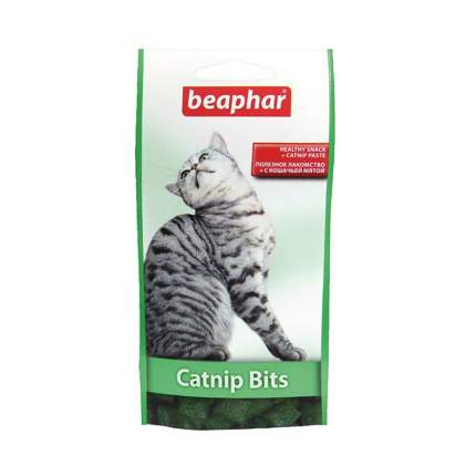 Лакомство для кошек BEAPHAR Catnip-Bits Подушечки с кошачьей мятой, 35 г