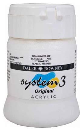 Акриловая краска Daler Rowney System 3 белила титановые 250мл