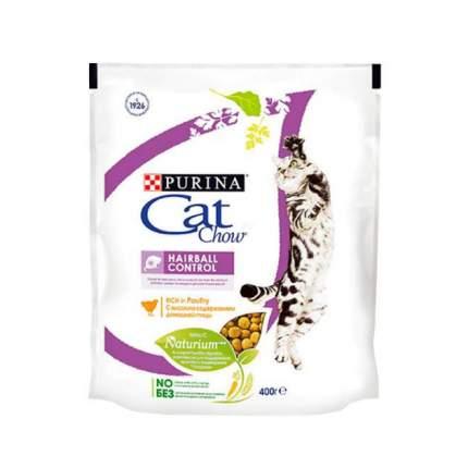 Сухой корм для кошек Cat Chow Special Care Hairball, для выведения шерсти, птица, 0,4кг