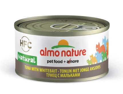 Консервы для кошек Almo Nature HFC Natural, рыба, тунец, 24шт, 70г