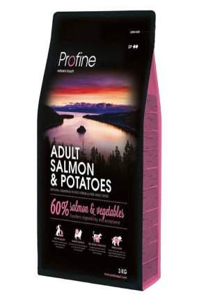 Сухой корм для собак Profine Adult Salmon & Potatoes, лосось, картофель, 3кг