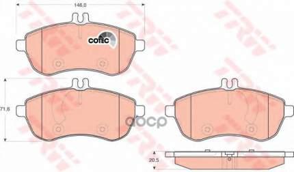 Комплект тормозных колодок TRW/Lucas GDB1736