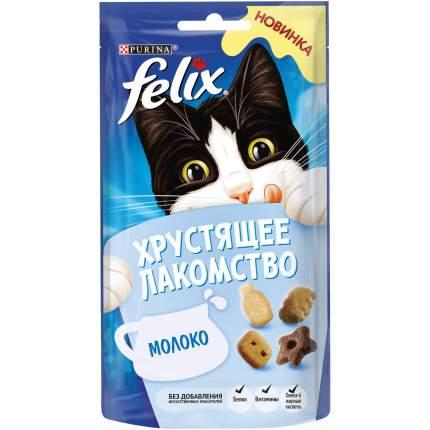 Хрустящее Лакомство для кошек Felix с молоком, 8шт. по 60г