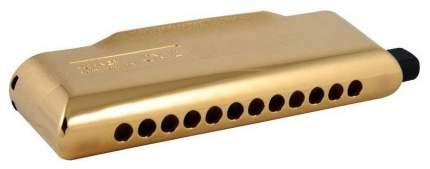 Губная гармоника хроматическая HOHNER CX 12 Gold 7545/48 C