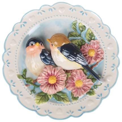 Декоративная тарелка Lefard Птицы На Яблоневой Ветке 59-059