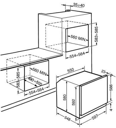Встраиваемый электрический духовой шкаф Smeg SFP140 Silver