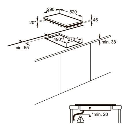 Встраиваемая варочная панель электрическая Electrolux EHF93320NK Black