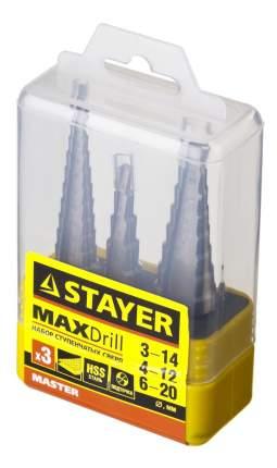 Набор сверл по металлу для дрелей, шуруповертов Stayer 29660-3-20-H3