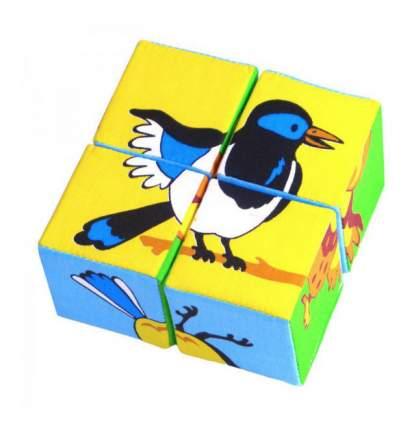 Детские кубики Мякиши Собери картинку Птицы 239