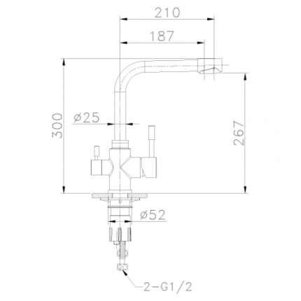 Смеситель для кухонной мойки LEMARK Expert LM5061S хром