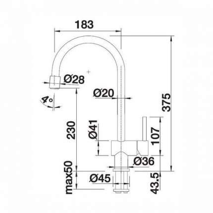Смеситель для кухонной мойки Blanco FILO-S 514966 серый шелк