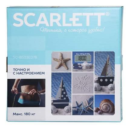 Весы напольные Scarlett SC-BS33E078 Синий