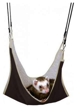 Гамак для хорьков и грызунов TRIXIE искусственный мех, нейлон 45x45см коричневый, бежевый