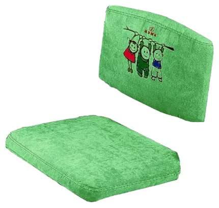 Чехол для стула Дэми замшевый Зеленый