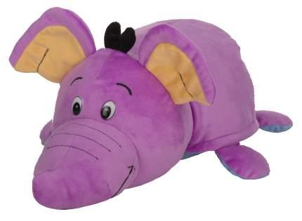 Мягкая игрушка 1 TOY Вывернушка 76 см 2 в 1, Голубой Щенок-Сиреневый Слон (Т12037)