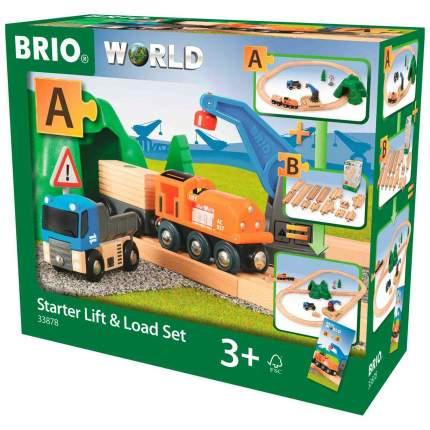 Игровой набор Brio Погрузо-разгрузочный Ж/д Набор (33878)