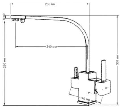 Смеситель для кухонной мойки Seaman Barcelone SSL-5390 Gun 470621 gun