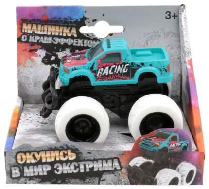 Машинка с краш-эффектом Racing, голубая Funky Toys