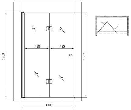 Душевая дверь gemy dutch windmill s37193d